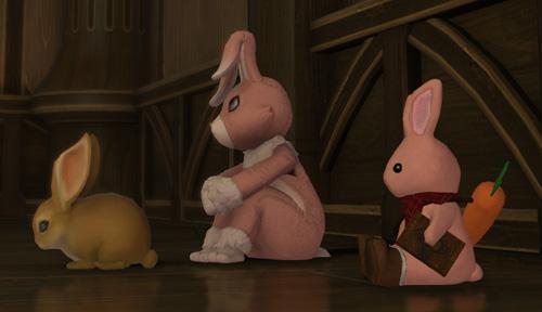 FF14 2020 エッグハント ラビットスーツ ウサギの着ぐるみ ウサギのぬいぐるみ