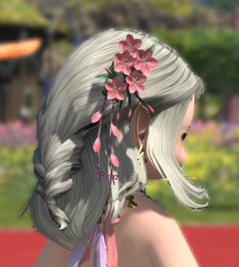 FF14 2020 プリンセスデー ロイヤルピーチオーナメント 髪飾り