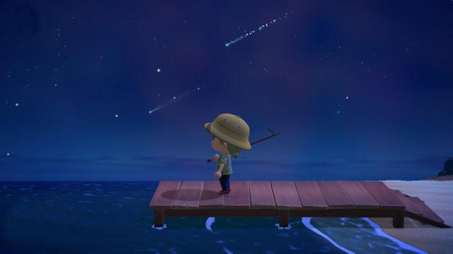 あつまれどうぶつの森 流星群 流れ星