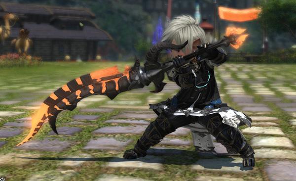FF14 イフリートフォセ 暗黒騎士 両手剣 ミラプリ ララフェル カッコイイ