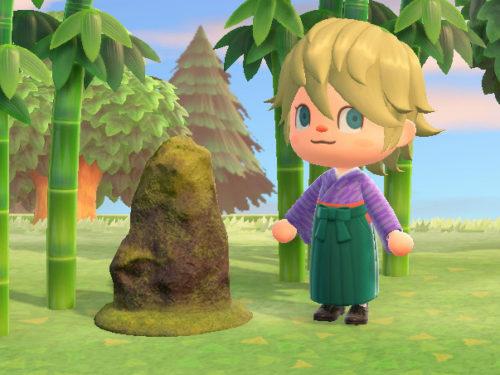 あつまれどうぶつの森 あつ森 苔むした庭石 こけむしたにわいし 和風 家具