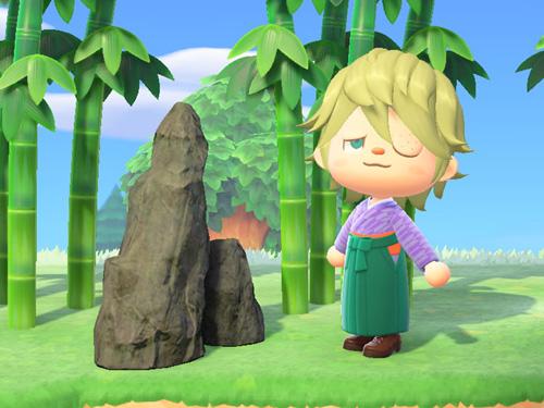 あつまれどうぶつの森 あつ森 たかいにわいし 高い庭石