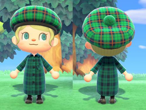あつまれどうぶつの森 あつ森 ジョニー スコットランドぼうし グリーン 緑 スコットランド帽子