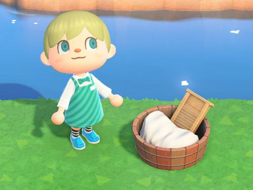 あつまれどうぶつの森 あつ森 せんたくおけ 洗濯桶 家具