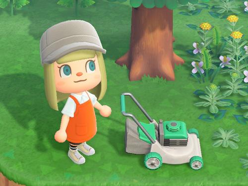 あつまれどうぶつの森 あつ森 しばかりき 芝刈り機 グリーン 緑