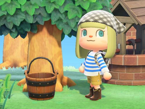 あつまれどうぶつの森 あつ森 もくせいのバケツ 木製のバケツ 家具