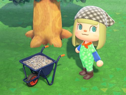 あつまれどうぶつの森 あつ森 ネコぐるま 家具 ブルー