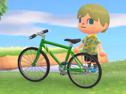 あつまれどうぶつの森 あつ森 マウンテンバイク
