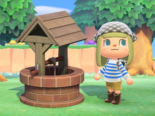 あつまれどうぶつの森 あつ森 レンガのいど レンガの井戸 レッド 赤 家具