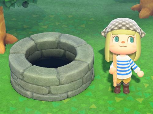 あつまれどうぶつの森 あつ森 シンプルないど シンプルな井戸 家具