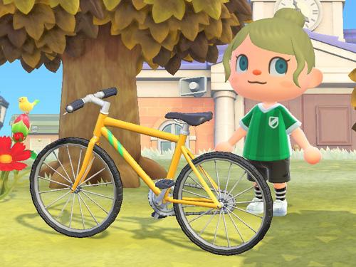 あつまれどうぶつの森 あつ森 マウンテンバイク イエロー 黄色
