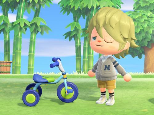 あつまれどうぶつの森 あつ森 さんりんしゃ 三輪車 ブルー 青
