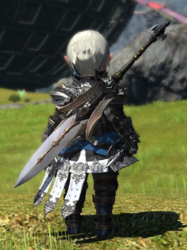 FF14 暗黒騎士 ミラプリ ララフェル サブドゥア 両手剣 カッコイイ