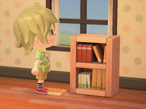 あつまれどうぶつの森 あつ森 本棚 つみきブックシェルフ 積み木ブックシェルフ 家具 ナチュラル