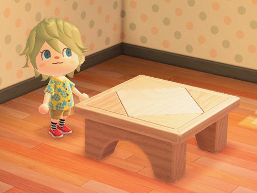 あつまれどうぶつの森 あつ森 つみきテーブル 積み木テーブル 家具 ナチュラル