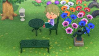 あつまれどうぶつの森 あつ森 ガーデンに置く家具