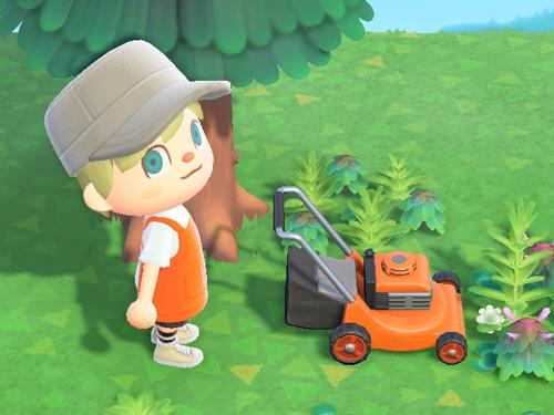 あつまれどうぶつの森 あつ森 しばかりき 芝刈り機 オレンジ