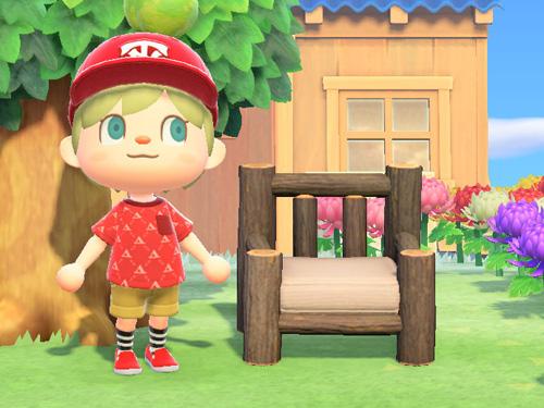 あつ森 あつまれどうぶつの森 庭 まるたのソファ 家具 ダークウッド