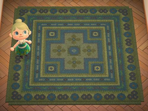 あつまれどうぶつの森 あつ森 みどりのキリムのカーペット 緑のキリムのカーペット