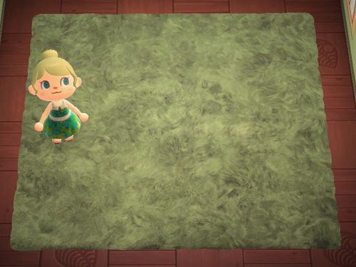 あつまれどうぶつの森 あつ森 みどりのシャギーなラグ 緑のシャギーなラグ ローラン