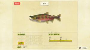 あつまれどうぶつの森 あつ森 サケ 鮭