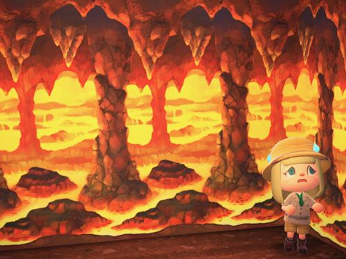 あつまれどうぶつの森 あつ森 かざんどうくつのかべ 火山洞窟の壁 ローラン