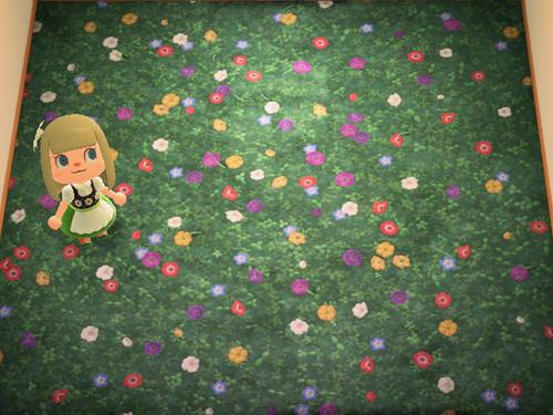 あつまれどうぶつの森 あつ森 くさばなのじゅうたん 草花の絨毯 ローラン