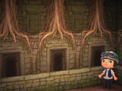 あつまれどうぶつの森 あつ森 いせきのかべ 遺跡の壁 ローラン