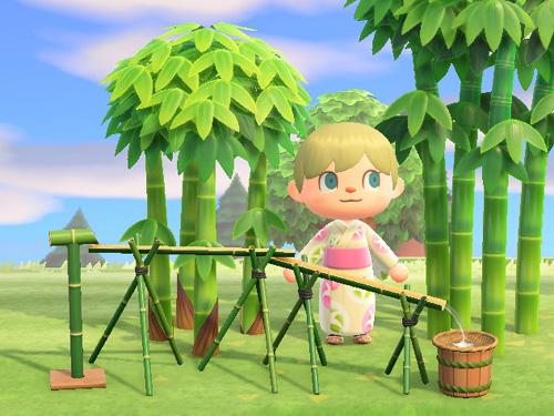 あつまれどうぶつの森 あつ森 ながしそうめん 流しそうめん 竹 家具