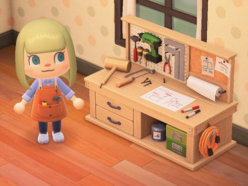 あつまれどうぶつの森 あつ森 DIYさぎょうだい DIY作業台 家具 ナチュラル