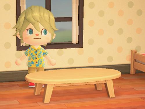 あつまれどうぶつの森 あつ森 家具 もくせいローテーブル 木製ローテーブル ライトウッド