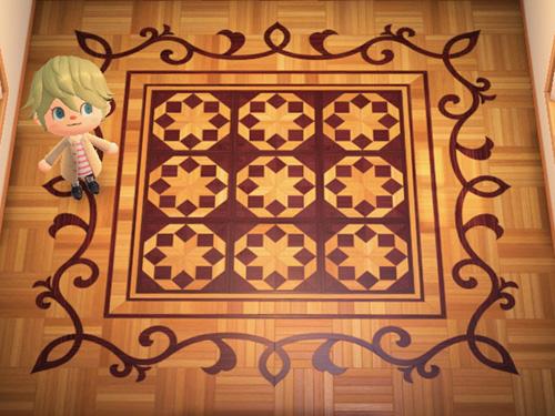 あつまれどうぶつの森 あつ森 アートなよせぎざいくのゆか アートな寄木細工の床