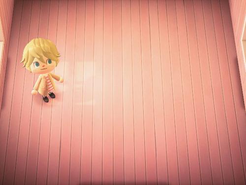 あつまれどうぶつの森 あつ森 ピンクのペイントフローリング 床