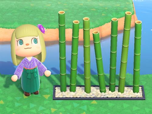 あつまれどうぶつの森 あつ森 たけのスクリーン 竹のスクリーン 家具 青竹