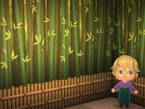 あつまれどうぶつの森 あつ森 ちくりんのかべ 竹林の壁