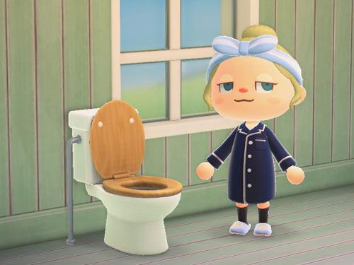 あつまれどうぶつの森 あつ森 ようしきトイレ 洋式トイレ 家具 ナチュラルウッド