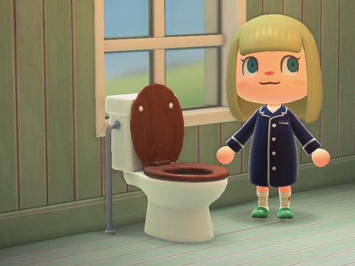 あつまれどうぶつの森 あつ森 洋式トイレ ようしきトイレ ダークウッド 家具