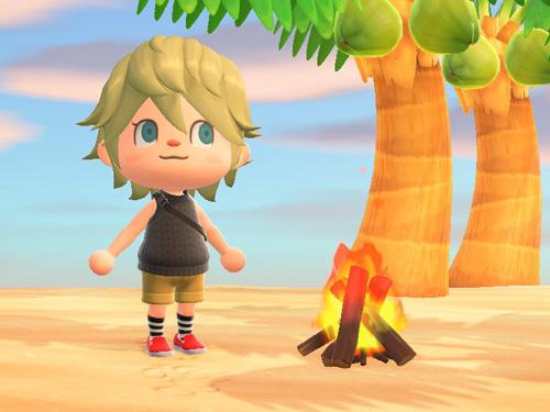 あつまれどうぶつの森 あつ森 たきび 焚き火 家具 キャンプ アウトドア