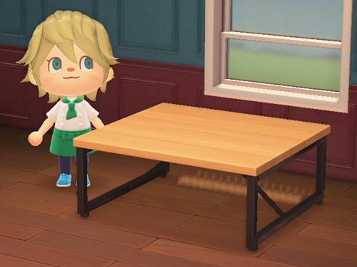 あつまれどうぶつの森 あつ森 アイアンウッドテーブル 家具 バーチ