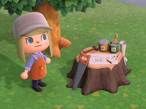 あつまれどうぶつの森 あつ森 そぼくなDIYさぎょうだい 素朴なDIY作業台 家具