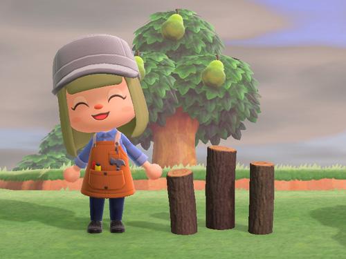 あつまれどうぶつの森 あつ森 まるたのくい 丸太の杭 家具