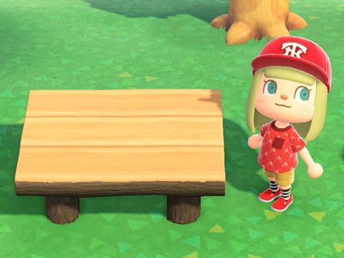 あつまれどうぶつの森 あつ森 まるたのダイニングテーブル 家具 ダークウッド