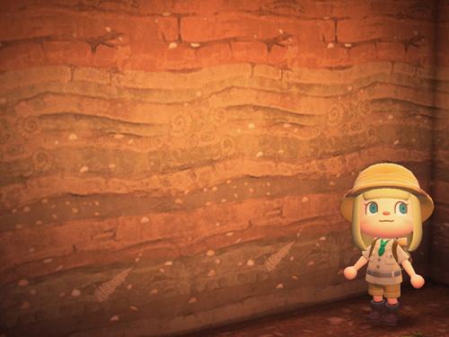 あつまれどうぶつの森 あつ森 ちそうのかべがみ 地層の壁紙 ローラン