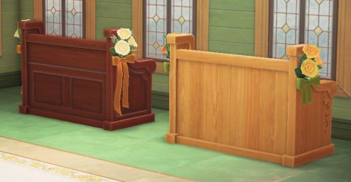 あつまれどうぶつの森 あつ森 ウェディングなベンチ 家具 ジューンブライド リメイク