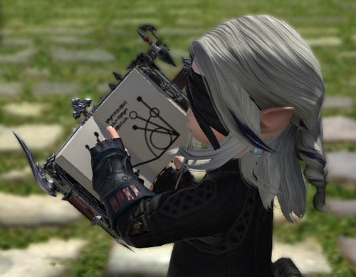 FF14 ミラプリ 召喚士 ガゼルグリモア 上品 黒い 本