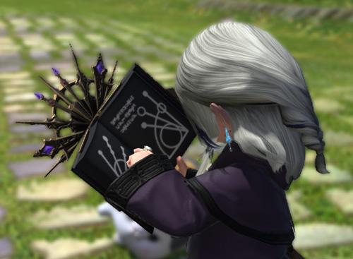 FF14 ミラプリ 変形する 本 召喚士 かっこいい マーリドグリモア 紫