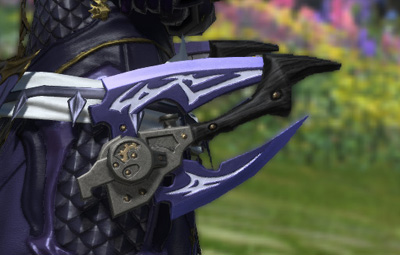 FF14 ミラプリ カッコイイ チタンクリス 忍者 青紫