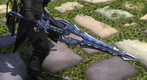 FF14 ミラプリ ララフェル ガーロンド・マジテックソードRE ナイト かっこいい 片手剣 ロイヤルブルー