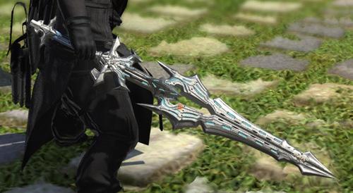FF14 ミラプリ ララフェル ガーロンド・マジテックソードRE ナイト かっこいい 片手剣 スノウホワイト