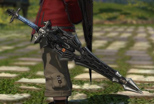 FF14 ミラプリ ララフェル ガーロンド・マジテックソードRE ナイト かっこいい 片手剣
